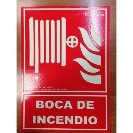 SEÑAL DE EXTINCIÓN PARA BOCA DE INCENDIO.