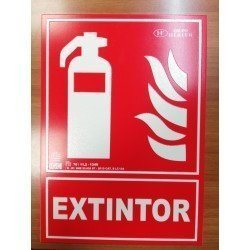 SEÑAL DE EXTINCIÓN DE EXTINTORCLASE B (PVC 0.7mm) RD00101……………….210X300  CLASE A (PVC 1mm) A00401…………………210X300