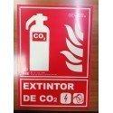 SEÑAL DE EXTINCIÓN DE EXTINTOR C02