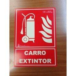 SEÑAL DE EXTINCIÓN DE CARRO EXTINTOR
