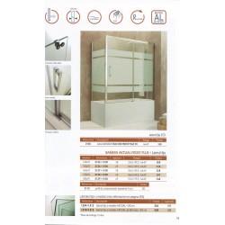 Mampara Frontal bañera Aktual Frost Plus