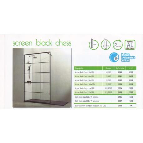 Mampara modelo Screen Balck Chess